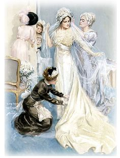 Edwardian Wedding dress print