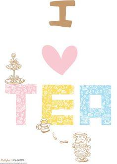 I <3 tea by Melanie Chadwick