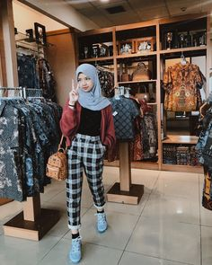 Casual Hijab Outfit, Ootd Hijab, Hijab Chic, Casual Fall Outfits, Street Hijab Fashion, Hijab Fashion Inspiration, Girl Fashion, Fashion Outfits, Beautiful Hijab