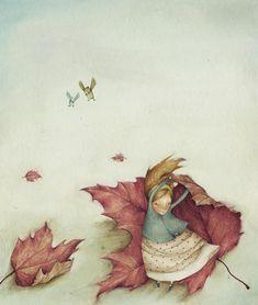 A Blustery Day - Serena Curmi Illustration