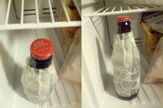 Wrap a wet paper towel around a drink and throw it in the freezer to cool it off quickly: