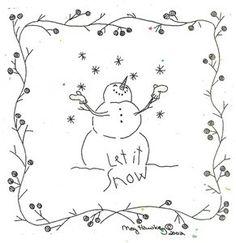 Crabapple Hill Studio Let It Snow Stitchery Pattern | eBay