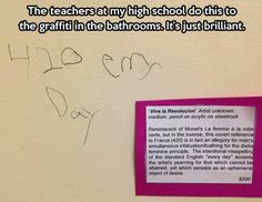 Graffiti vandals get served…You can write what ever you want on your door and it can have deep meaning, or not.