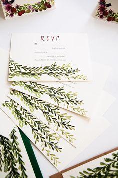 Extremely Popular Letterpress Wedding Invitation with Glitter!