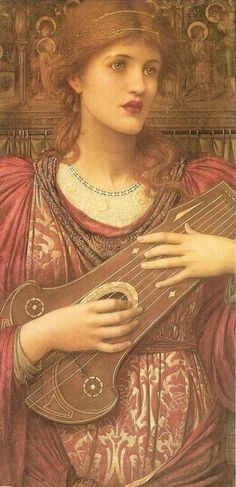 The Music Faintly Falling, Dies Away by John Melhuish Strudwick,...