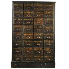 Wonderful English Bank of Drawers, visit our large collection of vintage, industrial and antique furniture and lighting Rustic Vintage Decor, Vintage Industrial Furniture, Recycled Furniture, Antique Furniture, Cool Furniture, Furniture Storage, Industrial Chic, Vintage Style, Printer Cabinet