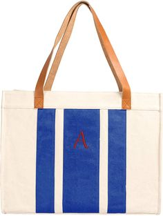 Ticking Fabric Navy and White Bag High Quality Tote Teacher Gift Totes Large Tote Teacher Tote Bag Personalized Bags