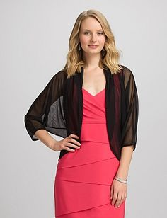 In case you want to formal up a sleeveless. Sheer Jacket | Dressbarn
