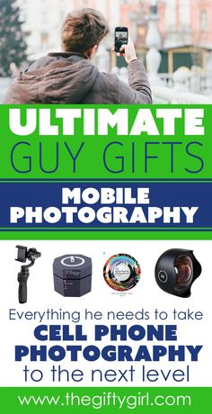 If you are looking for a gift for your husband or boyfriend, check out this mobile photography gift guide for men. Tons of great gift ideas to help your guy take his mobile photography to the next level. Unique Gifts For Men, Creative Gifts, Cool Gifts, Gifts For Him, Best Gifts, Christmas Gifts For Boyfriend, Diy Christmas Gifts, Boyfriend Gifts, Holiday Gifts