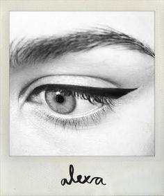 alexa chung makeup tips, lisa eldridge, organic makeup, natural makeup, sante cosmetics, aeos cosmetics, lisa noto, josie maran, cat eye liner, dr hauschka mascara