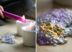 dryppe lys med glimmer Blackberry, Tea Lights, Candles, Fruit, Blog, Diy, Crafts, Inspiration, Hygge
