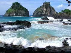 """Fernando de Noronha archipelago, Brasil  Probably the most beautiful beaches in the world where only a few people who know. One of the Unesco World Heritage Site is """"the most beautiful marine park in the World"""". Fernando de Noronha is an archipelago located in the name of the Atlantic Ocean, located 354 km from the east coast of Brazil. This island is the municipality (Distrito estatal) in the state of Brazil, Pernambuco. » From: www.jungbutour.com"""