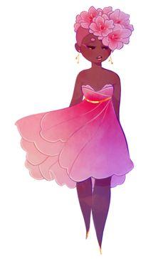 tried making an azalea flower girl 🌼 Cartoon Drawings, Cartoon Art, Cute Drawings, Black Girl Art, Art Girl, Arte Black, Wallpaper Animes, Illustration Art, Illustrations