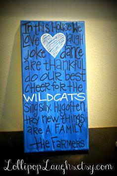 University of Kentucky Kentucky Wildcats C A T S by LollipopLaughs, $17.00