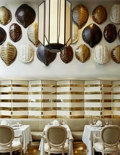 No matter how many times I visit the Tides, I never tire of these tortoise shells. Design by Kelly Wearstler.