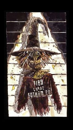 Utilizing a fear-inducing gas known as fear toxin, Jonathan Crane preys upon the people of Gotham City as the villainous Scarecrow. Gotham Villains, Comic Villains, Dc Comics Characters, Dc Comics Art, Batman Comics, Naruto Characters, Batwoman, Nightwing, Scarecrow Batman