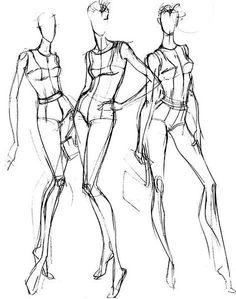 服装人体 女性11 服装设计图练习 - 堆糖 发现生活_收集美好_分享图片