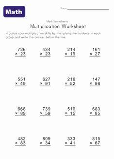 multiply worksheet 2