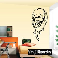 Skull Wall Decal - Vinyl Decal - Car Decal - SM068