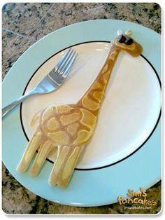 Giraffe pancake: made by Jim who must be a pancake guru.