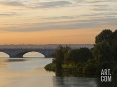 Twilight View of the 14th Street Bridge over the Potomac River Photographic Print by Brian Gordon Green at Art.com