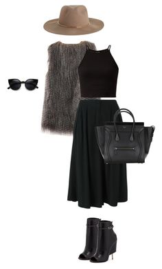 """""""Hat weather"""" by perlarara ❤ liked on Polyvore featuring Zimmermann, 2Noir and Givenchy"""