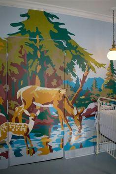 62 kreative Wände streichen Ideen - interessante Techniken - Archzine.net Fair Grounds, Interior Design, Architecture, Blog, Blue Accents, Creative Walls, Paint, Room Wall Decor, Nest Design