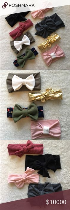 Baby Headbands for Fall! • Baby Headbands for Fall!                                                                                                                                     • $6 each! Buy 3, get 1 FREE now --> September 30th!                                                                              • Inquiry welcome! Accessories Hair Accessories
