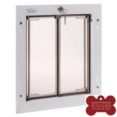 Plexidor Exterior Pet Door Small Medium Large X Large   White Door Mounted  And Energy