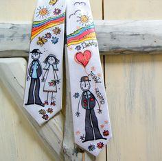 Luxusní+malovaná+kravata+pro+tatínka+Materiál:+100+%+hedvábí,+klasický+střih+Originál+na+bílém+podkladu,+v+nejširším+místě+šíře+10+cm+Krásný+dárek,+do+práce,+do+města+i+na+plesy,+svatbu...+nebo+jen+tak+Pro+originálního+muže,+jedinečným+dolpňkem+-+svědka+i+ženicha+nebo+tatínka+k+narozeninám.+Na+kravatu+je+možné+dopsat+jméno+nebo+datum.+Kravatu+je+vhodné+... Diy, Photos, Build Your Own, Bricolage, Do It Yourself, Diys