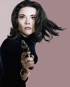 Diana Rigg as Emma Peel, The Avengers (1960's), spy-fi British television series #DiannaRigg #avengers