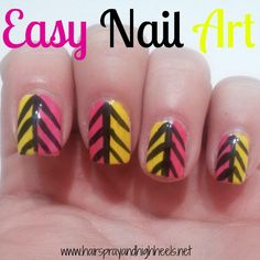DIY Easy Tribal Nail Art DIY Nails Art