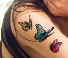 3-D Butterflies Tattoo