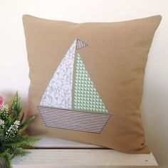 Cushion Cover - Jazzy Boat