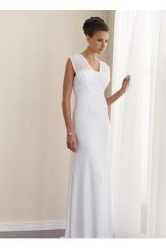 Mature wedding gown short elegant