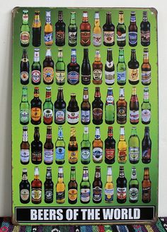Tin Beer Sign 30 by 20Cm decor by TheThreeChicas on Etsy