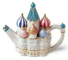 a good cup of tea. Fitz and Floyd Around The World St Basils Cathedral Miniature Teapot Teapots Unique, Tea Pot Set, Teapots And Cups, My Cup Of Tea, Chocolate Pots, Vintage Tea, Drinking Tea, Tea Time, Tea Party