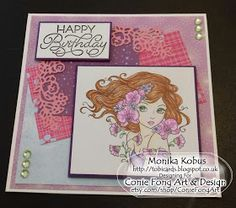 Birthday card for Mum with Moonflower Lullaby from Conie Fong Art & Design