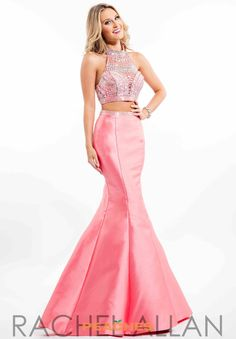 Rachel Allan Cut Out Mermaid Dress 7067