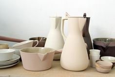 ceramics by kirstie van noort. The subtle colors are stunning and fit really well in this season's pastel trend.