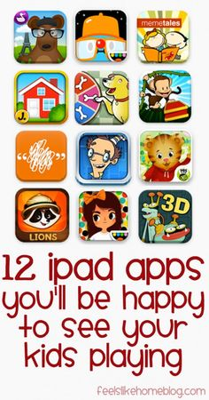 12 iPad Apps You'll Be Happy to See Your Kids Playing on. Learning apps for klds. Learning Apps, Learning Activities, Kids Learning, Mobile Learning, Learning Time, Learning Centers, Ipad Apps, 3 Year Olds, Applications