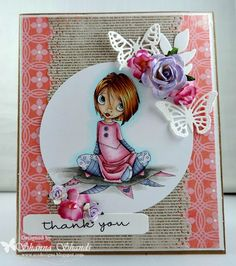 Loves Rubberstamps Blog: A Saturated Thank You - Saturated Canary Krafty Kate