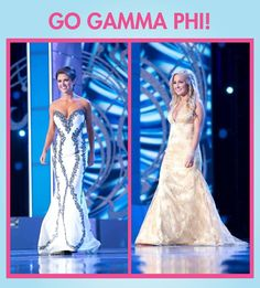 #FunFactFriday We have two sisters competing in the Miss America Pageant this weekend! Sending pink carnations to Miss Oklahoma Kelsey Griswold of Beta Omicron Chapter (Oklahoma City) and Miss Montana Sheridan Pope from Gamma Mu Chapter (Minnesota State - Moorehead). We are so proud of you both!!! #GammaPhiBeta