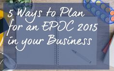 5 Ways to Plan for an EPIC 2015 in your Business