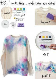 DIY Watercolor Sweatshirt