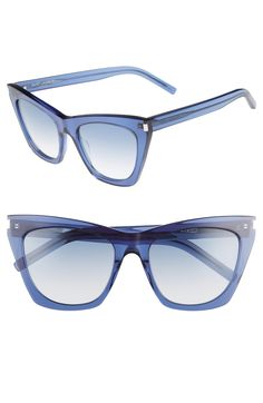 8d953eded9 Free shipping and returns on Saint Laurent Kate 55mm Cat Eye Sunglasses at  Nordstrom.com