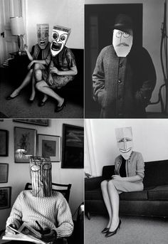 from Inge Morath & Saul Steinberg's Mask series in the Foam Magazine.