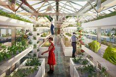 antonio scarponi combines urban farming with industrial rooftops (Designboom)