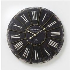 Black shabby chic clock