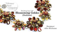 Blossoming Gekko Necklace FREE Tutorial. Potomac Bead Company